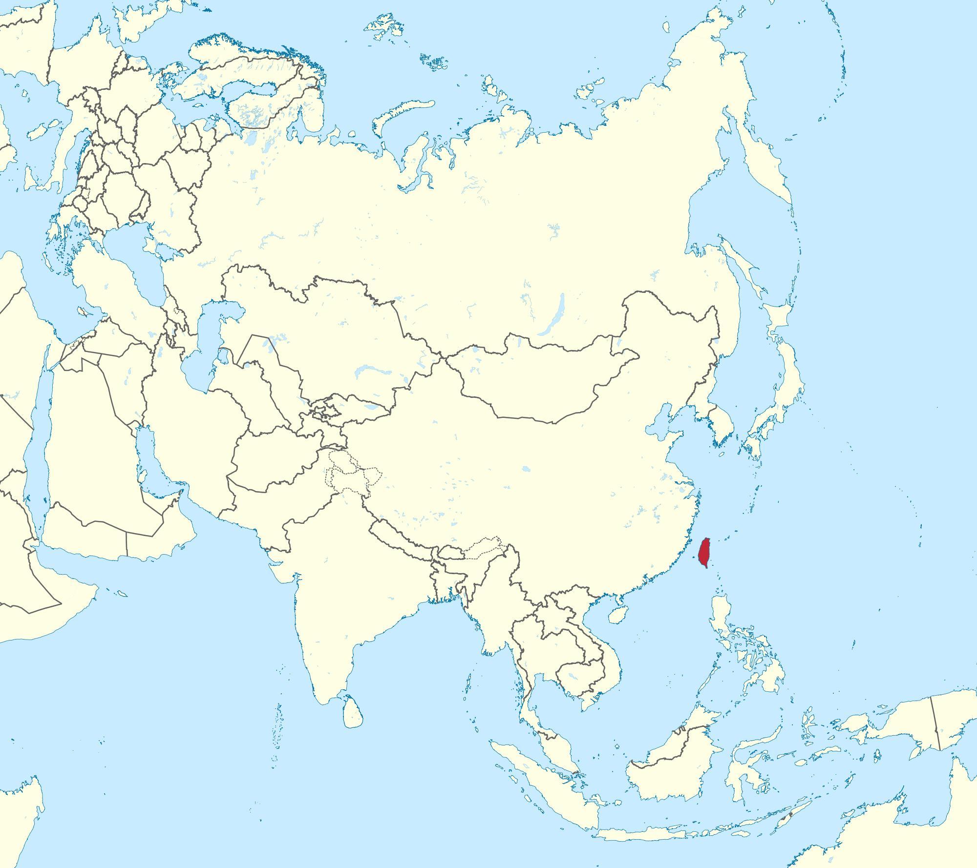 Taiwan Kort Asien Taiwan Kort I Asien Det Ostlige Asien Asien