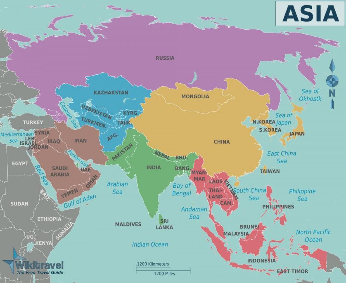 Kort Over Taiwan Og De Omkringliggende Lande Kort Over Taiwan Og