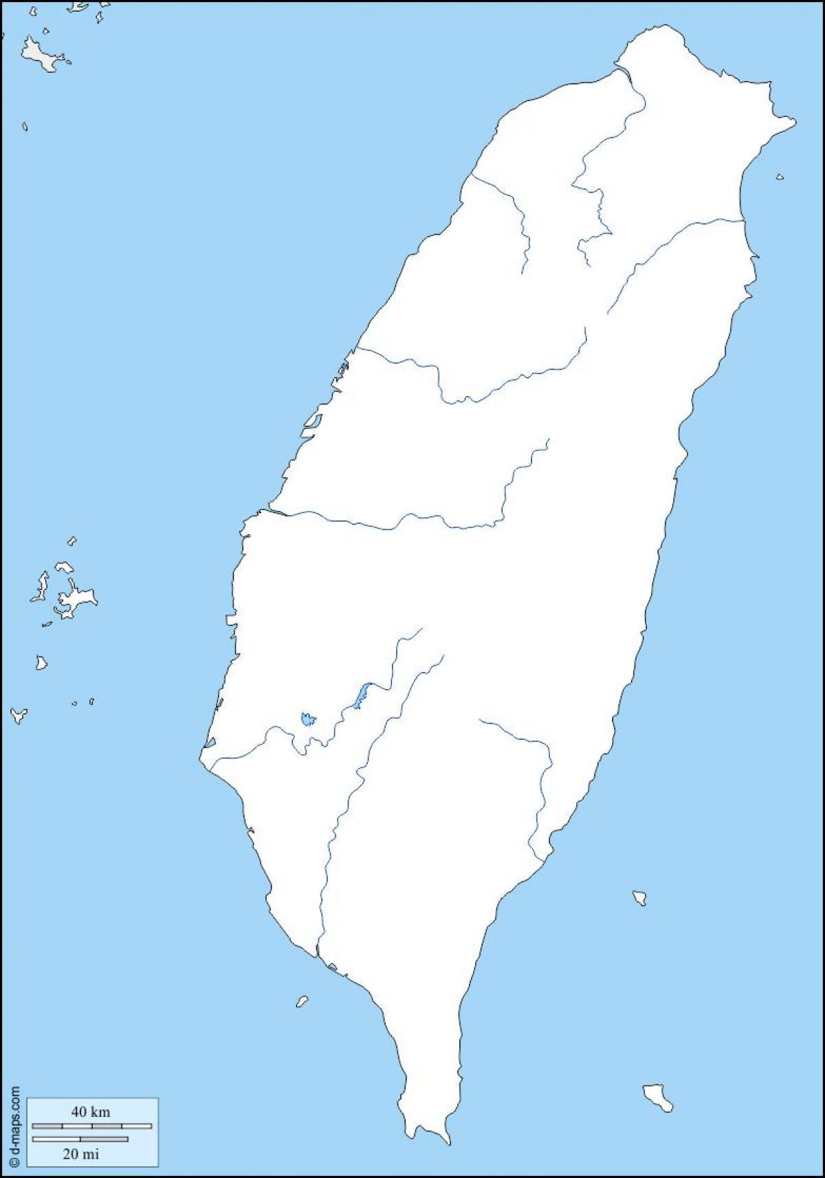 Taiwan Kort Skitse Kort For Taiwan Oversigt Ostlige Asien Asien