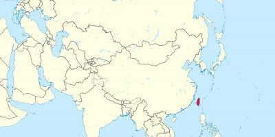 Taiwan Kort Kort Taiwan Ostlige Asien Asien